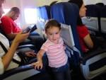 Jessica enjoying the flight