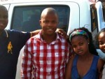 Siphewe (left) healed & no longer needs a crutch! His Nephew (middle) receives Jesus as a result.